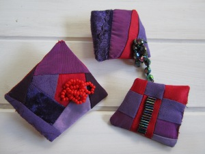 patchwork or pieced brooches, pins